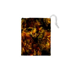 Autumn Colors In An Abstract Seamless Background Drawstring Pouches (xs)