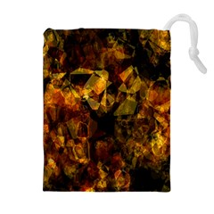 Autumn Colors In An Abstract Seamless Background Drawstring Pouches (Extra Large)