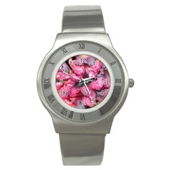 Raspberry Delight Stainless Steel Watch