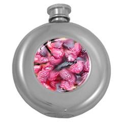 Raspberry Delight Round Hip Flask (5 oz)