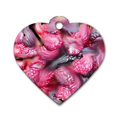 Raspberry Delight Dog Tag Heart (One Side)
