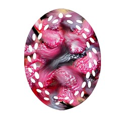 Raspberry Delight Oval Filigree Ornament (two Sides)