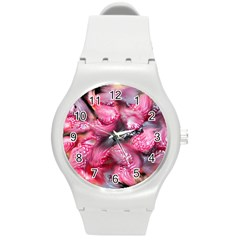 Raspberry Delight Round Plastic Sport Watch (m)