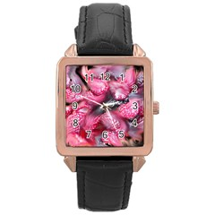Raspberry Delight Rose Gold Leather Watch