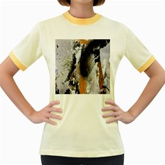 Abstract Graffiti Background Women s Fitted Ringer T-Shirts