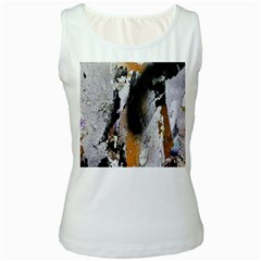 Abstract Graffiti Background Women s White Tank Top