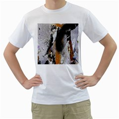 Abstract Graffiti Background Men s T-Shirt (White) (Two Sided)