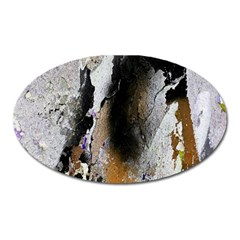 Abstract Graffiti Background Oval Magnet