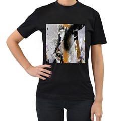 Abstract Graffiti Background Women s T Shirt (black) (two Sided)