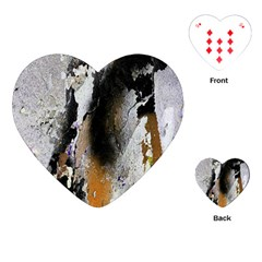 Abstract Graffiti Background Playing Cards (Heart)