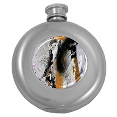 Abstract Graffiti Background Round Hip Flask (5 oz)