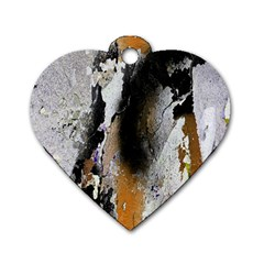 Abstract Graffiti Background Dog Tag Heart (Two Sides)