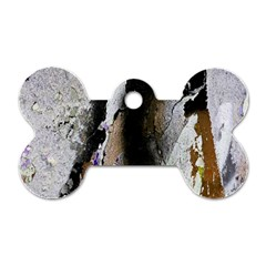 Abstract Graffiti Background Dog Tag Bone (One Side)