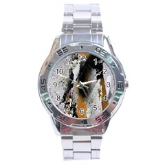 Abstract Graffiti Background Stainless Steel Analogue Watch