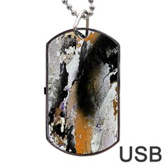 Abstract Graffiti Background Dog Tag USB Flash (One Side)