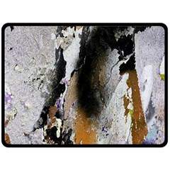 Abstract Graffiti Background Double Sided Fleece Blanket (Large)