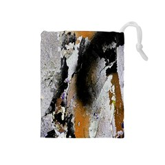 Abstract Graffiti Background Drawstring Pouches (Medium)