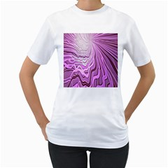 Light Pattern Abstract Background Wallpaper Women s T Shirt (white) (two Sided)