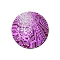 Light Pattern Abstract Background Wallpaper Rubber Coaster (Round)