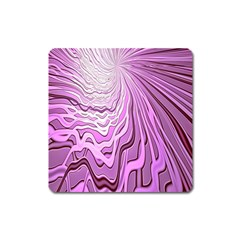 Light Pattern Abstract Background Wallpaper Square Magnet