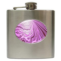 Light Pattern Abstract Background Wallpaper Hip Flask (6 oz)