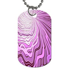 Light Pattern Abstract Background Wallpaper Dog Tag (Two Sides)