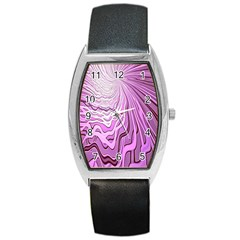 Light Pattern Abstract Background Wallpaper Barrel Style Metal Watch