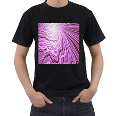 Light Pattern Abstract Background Wallpaper Men s T-Shirt (Black) (Two Sided)
