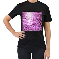 Light Pattern Abstract Background Wallpaper Women s T Shirt (black) (two Sided)