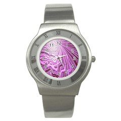 Light Pattern Abstract Background Wallpaper Stainless Steel Watch