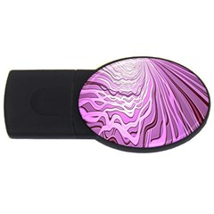 Light Pattern Abstract Background Wallpaper USB Flash Drive Oval (4 GB)