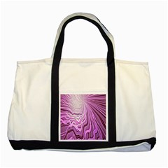 Light Pattern Abstract Background Wallpaper Two Tone Tote Bag