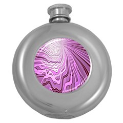 Light Pattern Abstract Background Wallpaper Round Hip Flask (5 Oz)