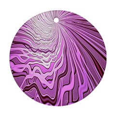 Light Pattern Abstract Background Wallpaper Round Ornament (Two Sides)