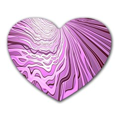Light Pattern Abstract Background Wallpaper Heart Mousepads