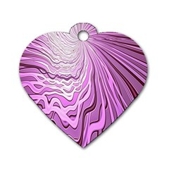 Light Pattern Abstract Background Wallpaper Dog Tag Heart (one Side)