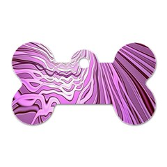 Light Pattern Abstract Background Wallpaper Dog Tag Bone (One Side)