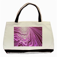 Light Pattern Abstract Background Wallpaper Basic Tote Bag (Two Sides)
