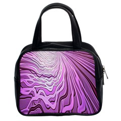 Light Pattern Abstract Background Wallpaper Classic Handbags (2 Sides)