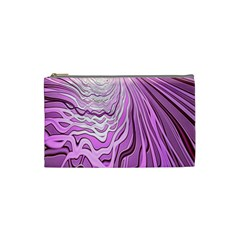 Light Pattern Abstract Background Wallpaper Cosmetic Bag (small)