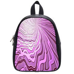 Light Pattern Abstract Background Wallpaper School Bags (Small)