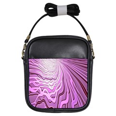 Light Pattern Abstract Background Wallpaper Girls Sling Bags