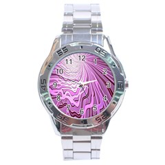 Light Pattern Abstract Background Wallpaper Stainless Steel Analogue Watch