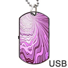Light Pattern Abstract Background Wallpaper Dog Tag Usb Flash (one Side)