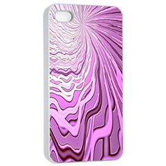 Light Pattern Abstract Background Wallpaper Apple iPhone 4/4s Seamless Case (White)