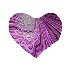 Light Pattern Abstract Background Wallpaper Standard 16  Premium Heart Shape Cushions