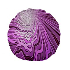 Light Pattern Abstract Background Wallpaper Standard 15  Premium Flano Round Cushions