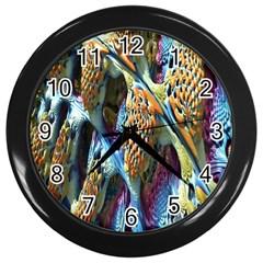 Background, Wallpaper, Texture Wall Clocks (Black)
