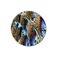 Background, Wallpaper, Texture Rubber Coaster (Round)