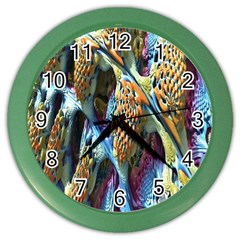 Background, Wallpaper, Texture Color Wall Clocks